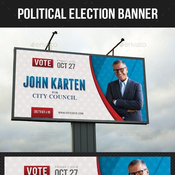 Political Election Outdoor Banner