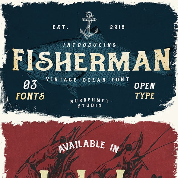 Fisherman - Vintage Ocean Fonts