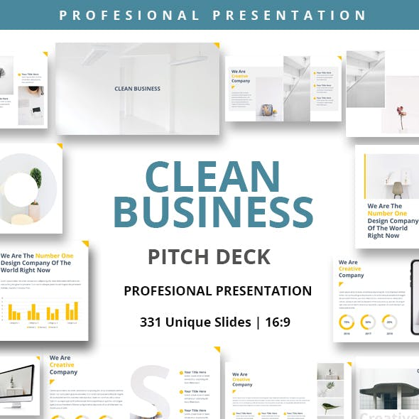 Clean Business Keynote Powerpoint Presentation Template