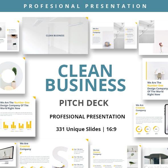 Clean Business Keynote Powerpoint Presentation Template