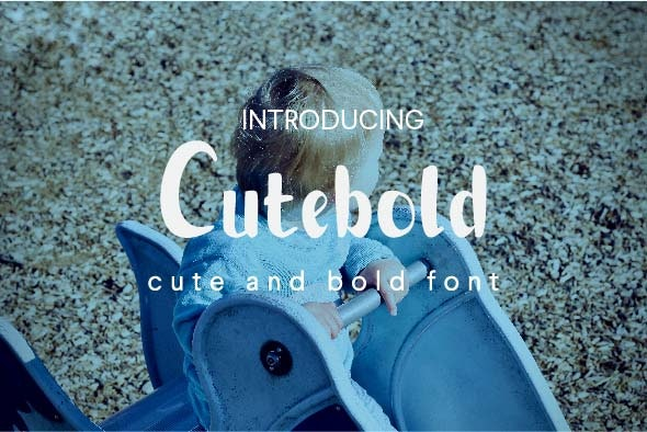 Cutebold font - Comic Decorative