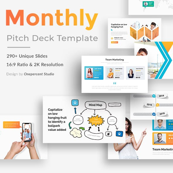 Monthly Goals Pitch Deck Powerpoint Template