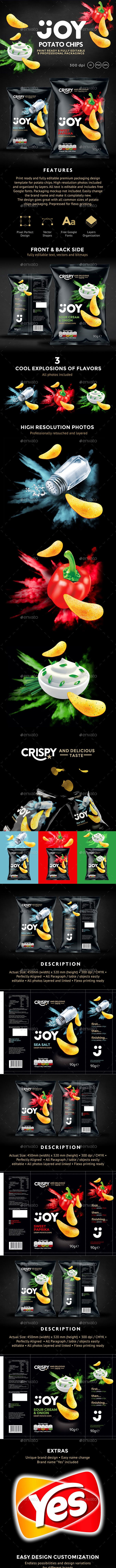 9 Potato Chips Packaging Design Templates - Packaging Print Templates