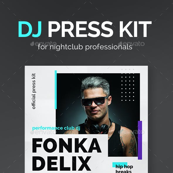 Beatz - DJ Press Kit / DJ Resume / DJ Rider PSD Template