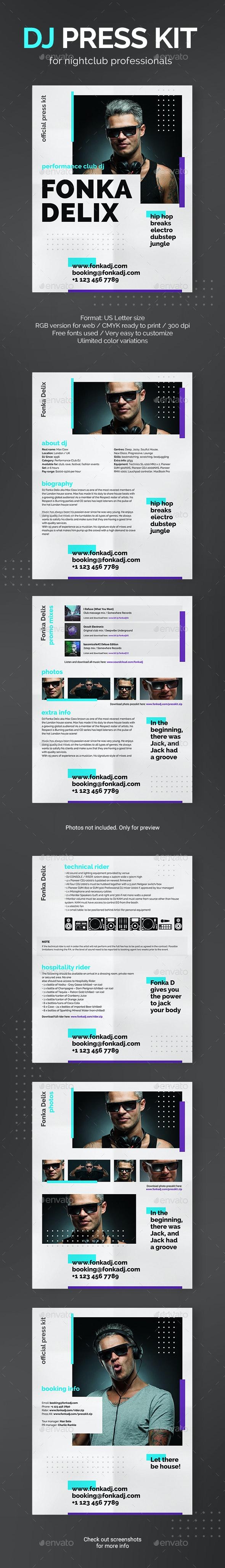 Beatz - DJ Press Kit / DJ Resume / DJ Rider PSD Template - Resumes Stationery