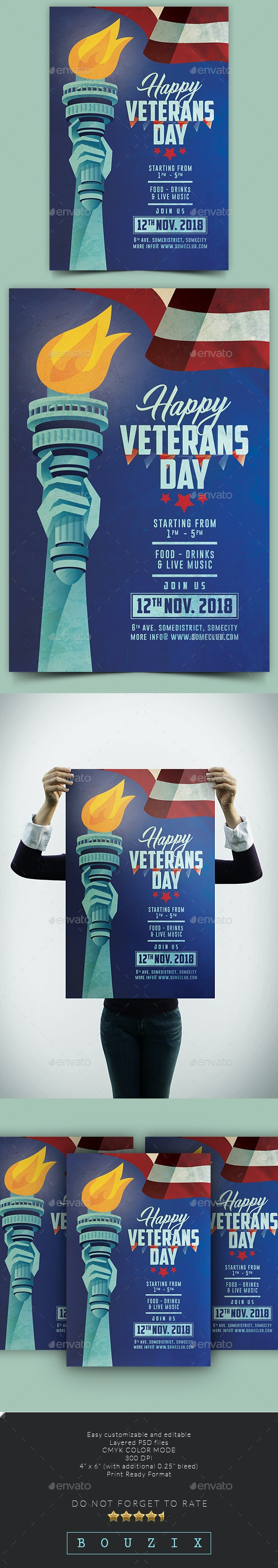 Veterans Day Celebration Party - Events Flyers