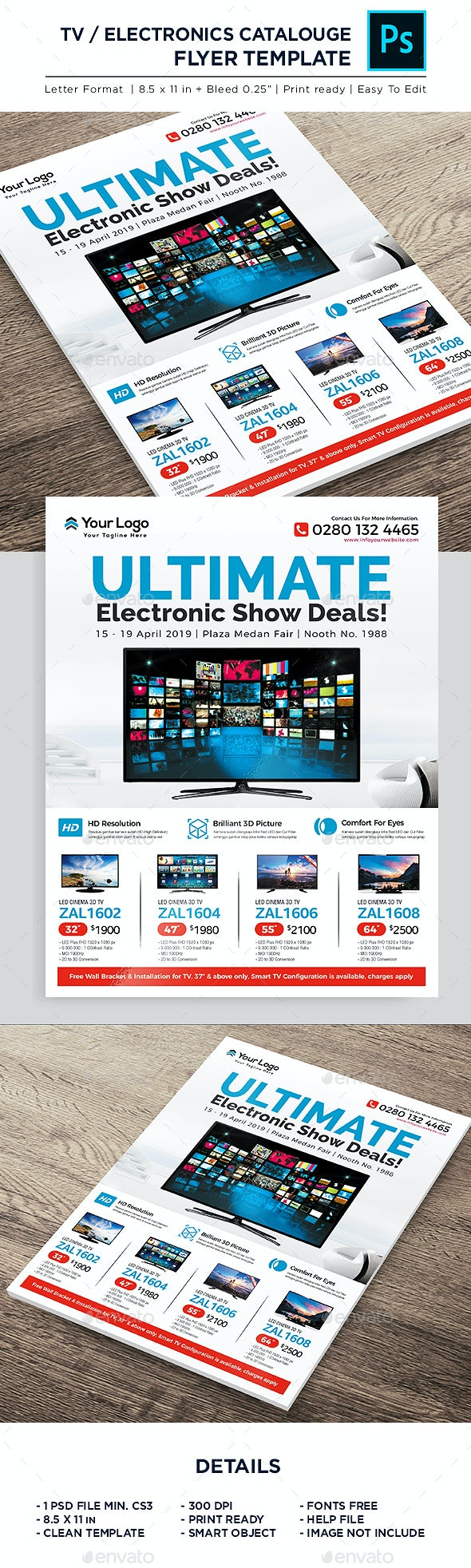 TV Sale/ Electronic Product Catalogue - Corporate Flyer - Commerce Flyers