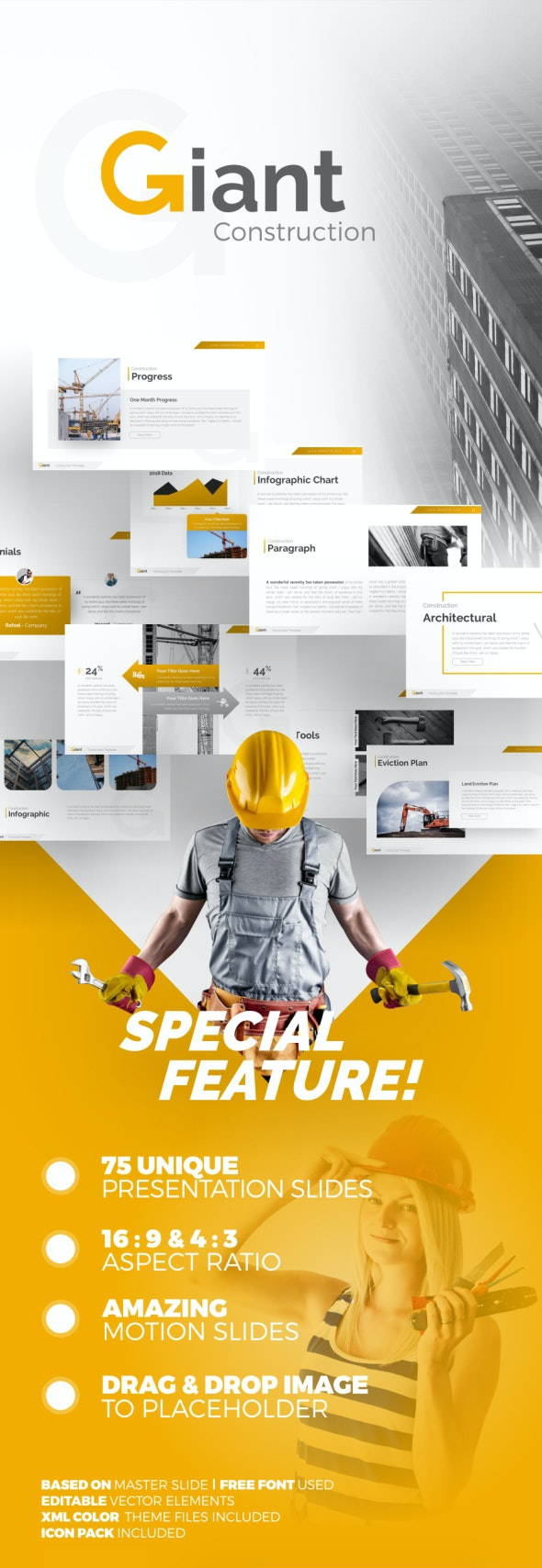 Giant Construction PowerPoint Presentation Template by