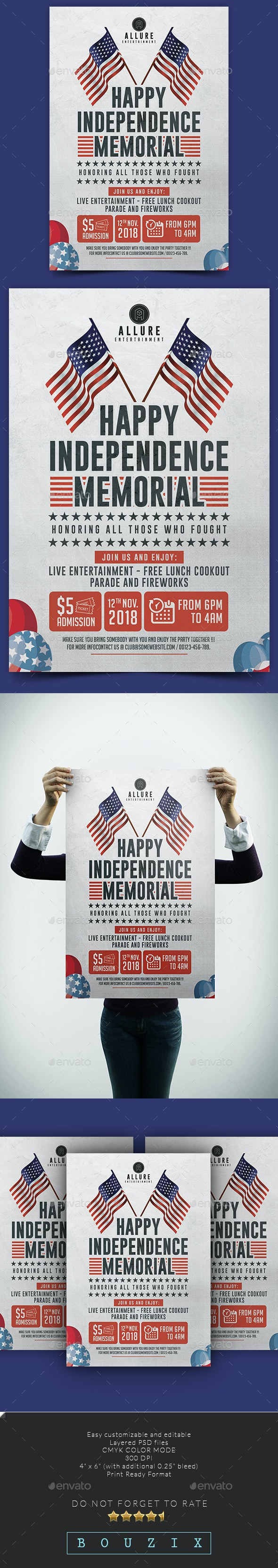 Independence Memorial Flyer - Events Flyers