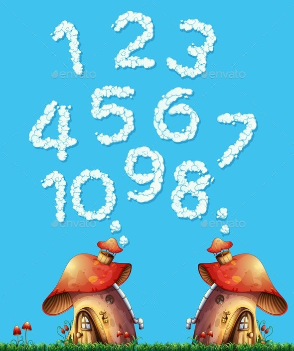 Mushroom House and Cloud Number - Miscellaneous Conceptual