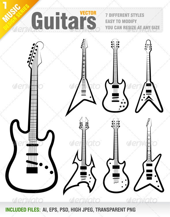 7 Guitars - Man-made Objects Objects