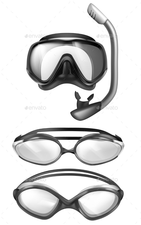 Vector Mask for Diving - Sports/Activity Conceptual