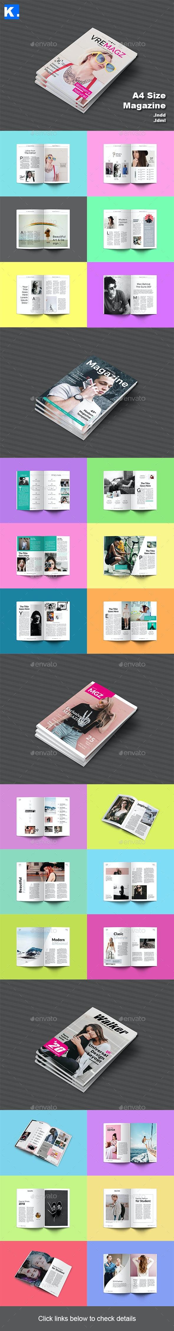 Magazine Bundle 3 - Magazines Print Templates
