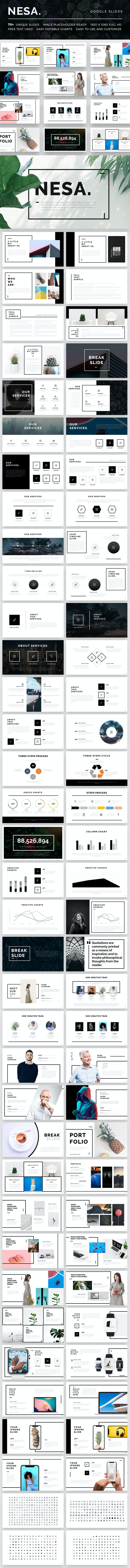 Nesa Google Slide Template - Google Slides Presentation Templates
