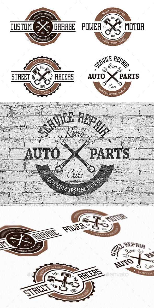 Vector Auto Emblems - Decorative Symbols Decorative