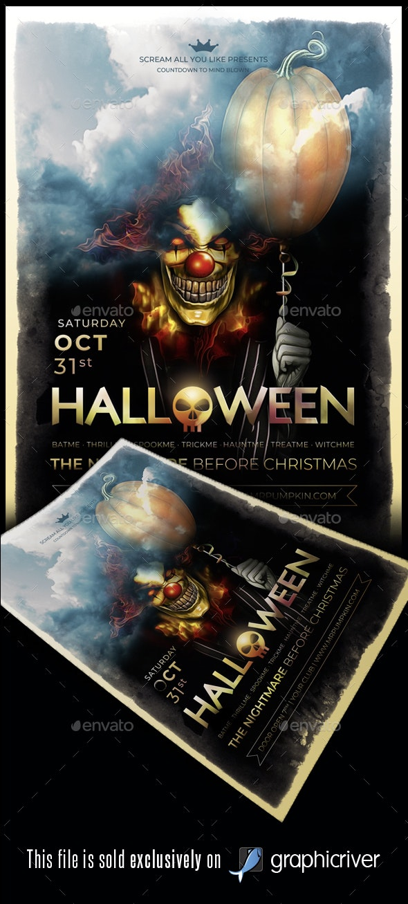 Halloween Flyer/Poster Vol.04 - Events Flyers