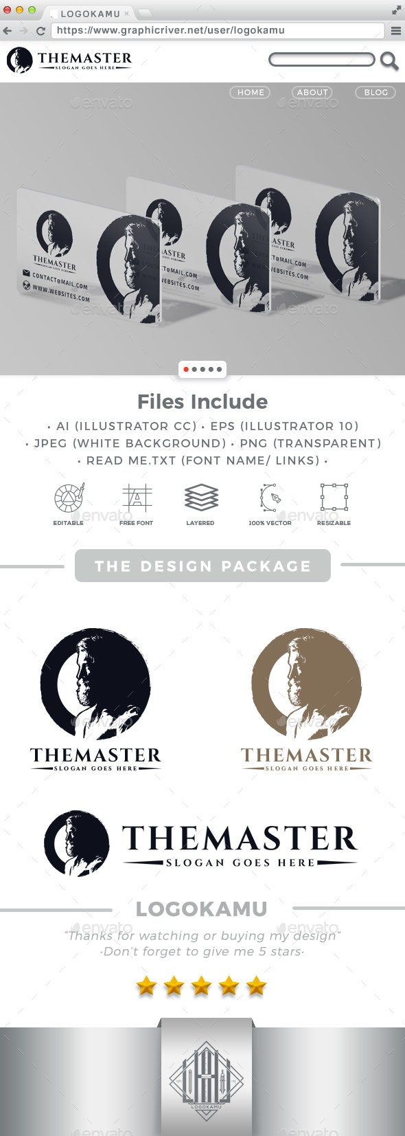 Master Man Logo - Humans Logo Templates
