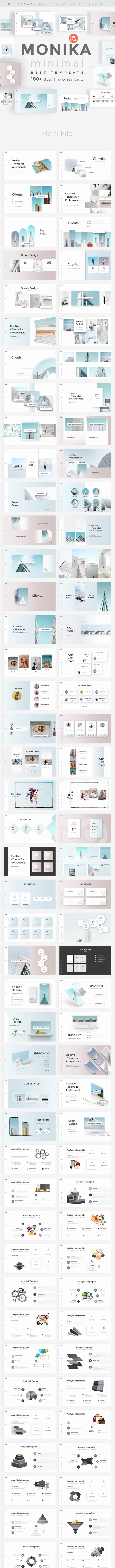 Monika Minimal Keynote Template - Creative Keynote Templates