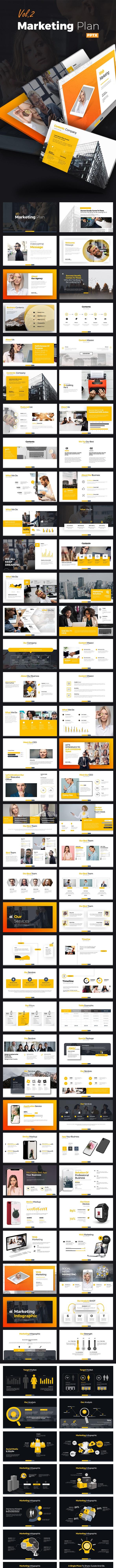 Marketing Plan Vol.2 - Pitch Deck PowerPoint Templates