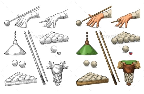 Billiard Set - Sports/Activity Conceptual