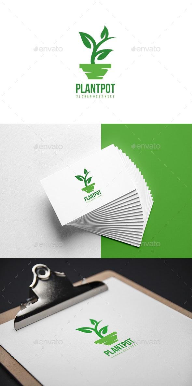 Plant Pot Logo - Abstract Logo Templates