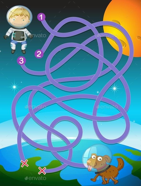 Kid Astronaut Puzzle Game - Miscellaneous Conceptual