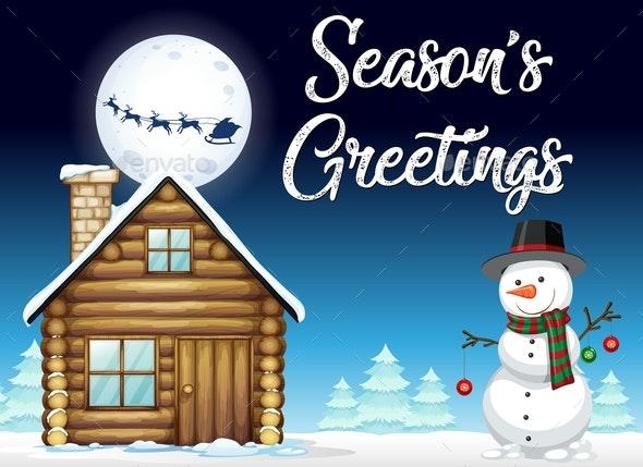 Winter Snow Season Template - Christmas Seasons/Holidays