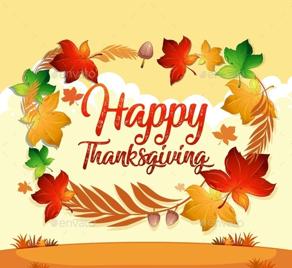 Happy Thanksgiving Card Template - Miscellaneous Seasons/Holidays