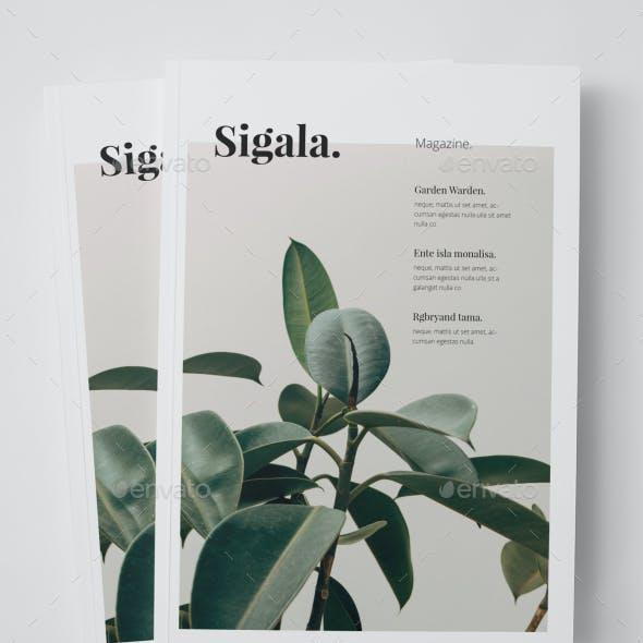 Sigala Clean Magazine Template