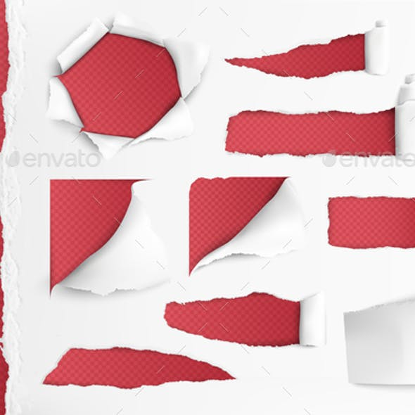 White Paper With Ripped Holes
