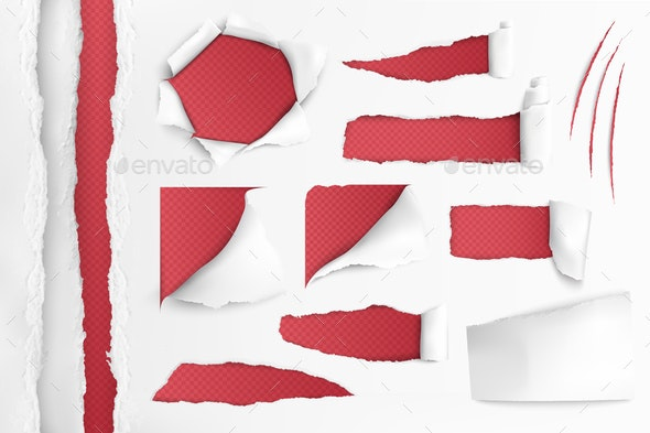 White Paper With Ripped Holes - Miscellaneous Vectors