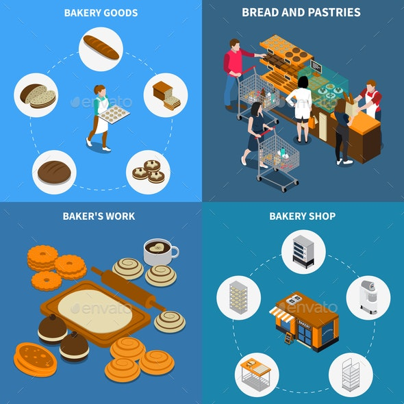 Bakery Bread Design Concept - Food Objects