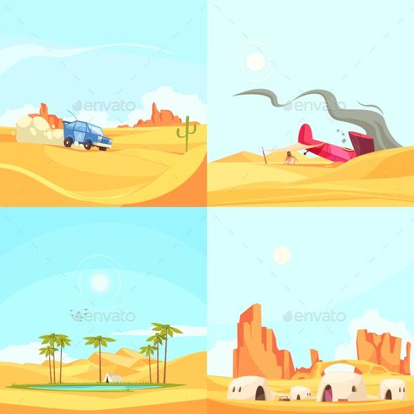 Flat Desert Design Concept - Nature Conceptual