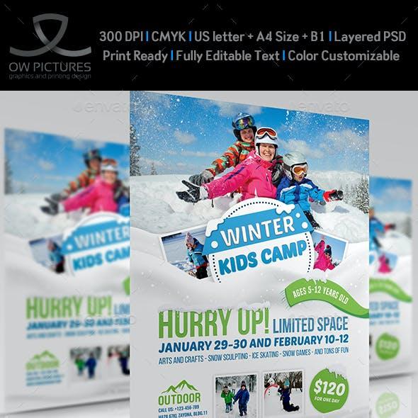 Kids Winter Camp Flyer Template