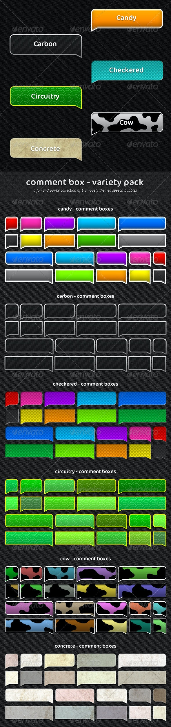 Comment Box - Variety Pack - Miscellaneous Web Elements