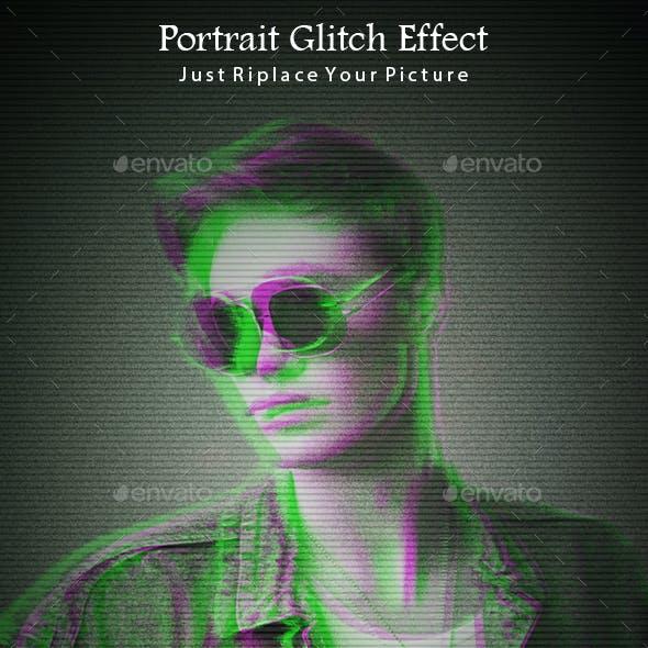 Portrait Glitch Effects
