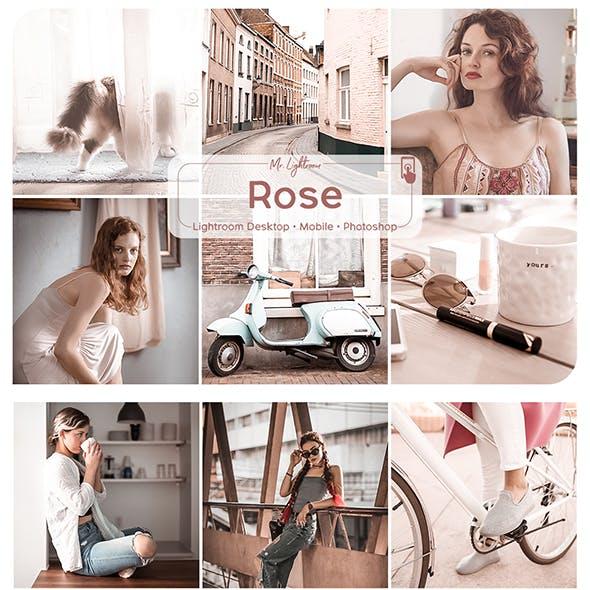 Rose Lightroom Desktop and Mobile Presets
