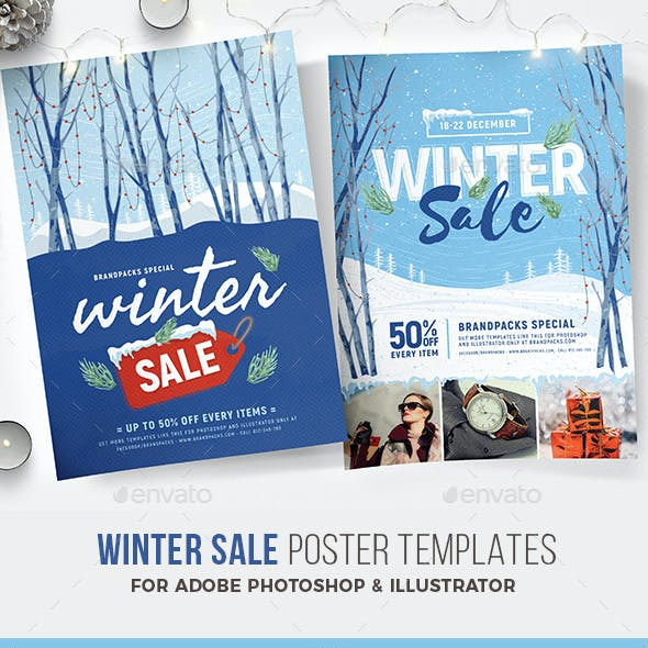 Winter Sale Poster / Flyer Template