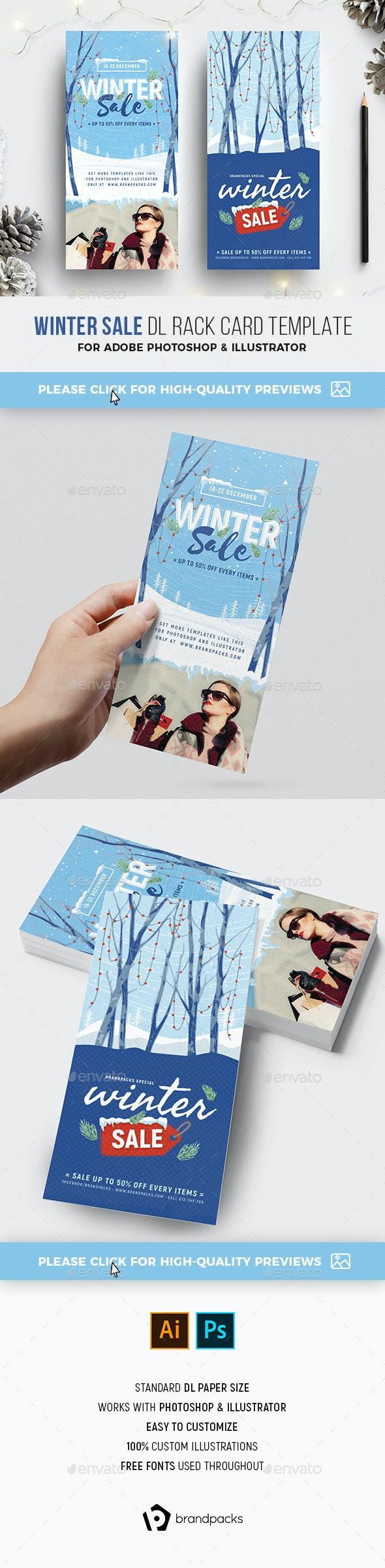 Winter Sale DL Rack Card - Holidays Events