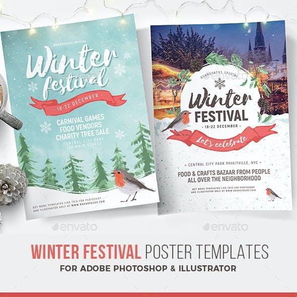 Winter Festival Poster / Flyer Template