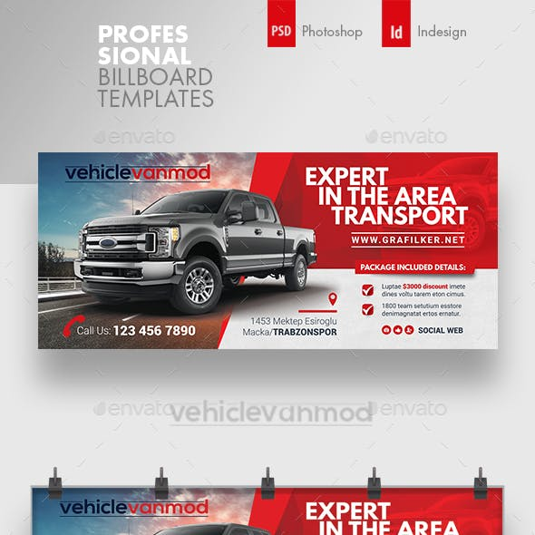 Commercial Vehicle Billboard Templates