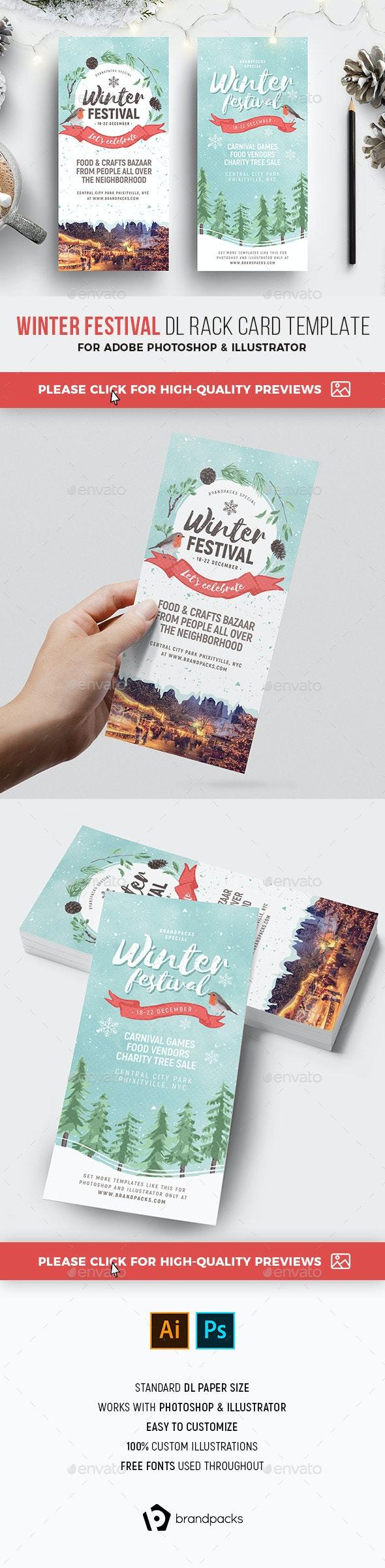Winter Festival DL Rack Card - Holidays Events