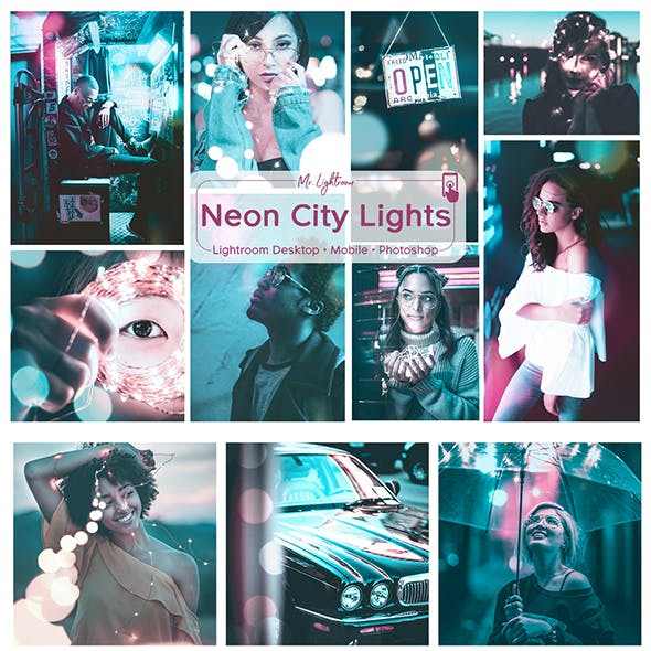 Neon City Lights Lightroom Desktop and Mobile Presets