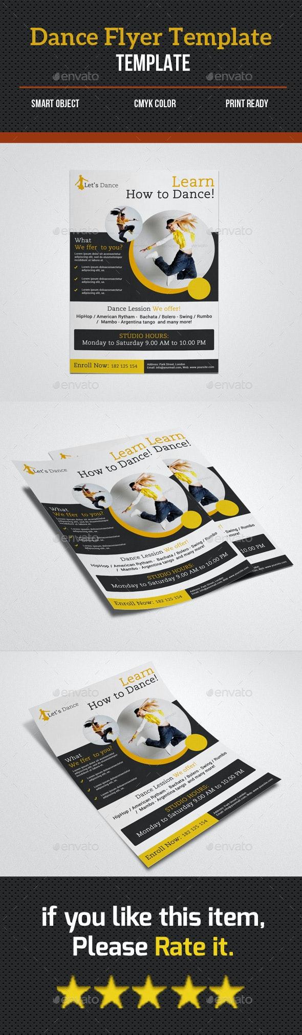 Dance Studio  Flyer - Corporate Flyers