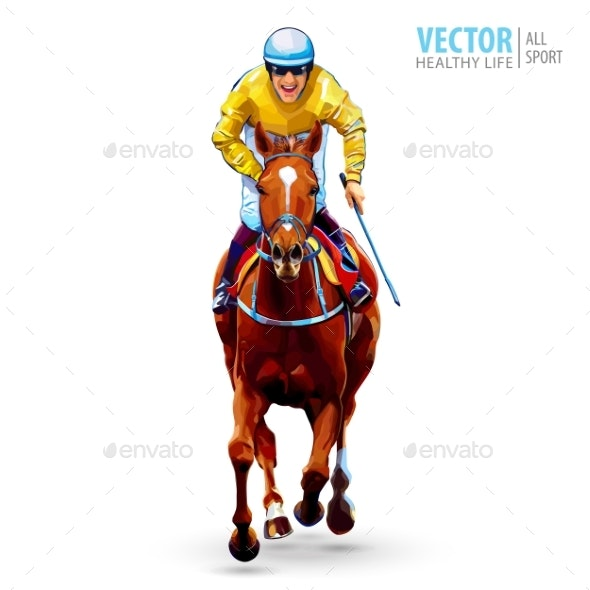 Jockey on Horse - Sports/Activity Conceptual