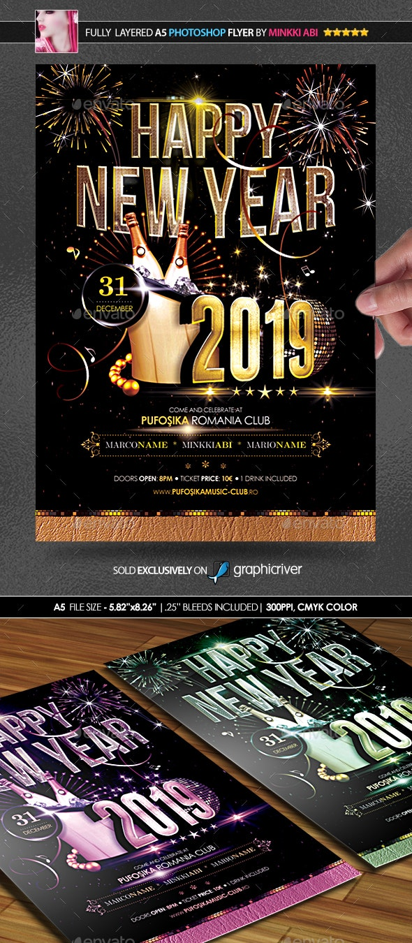 2019 New Year Poster/Flyer - Flyers Print Templates