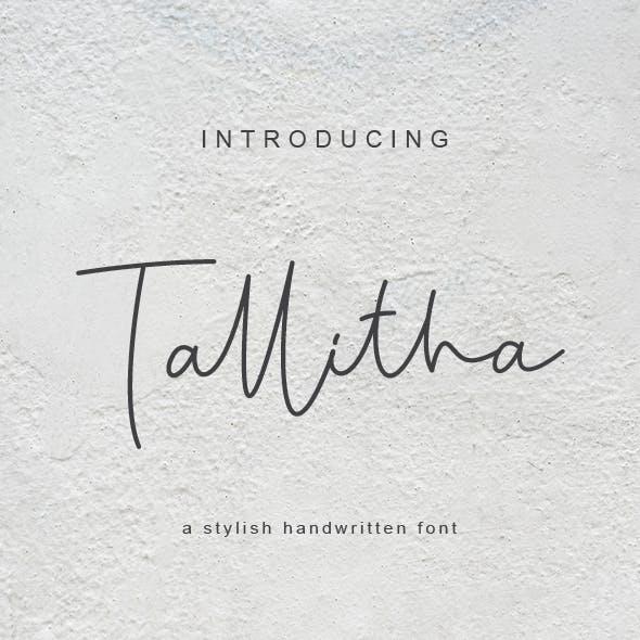 Tallitha a stylish handwritten font