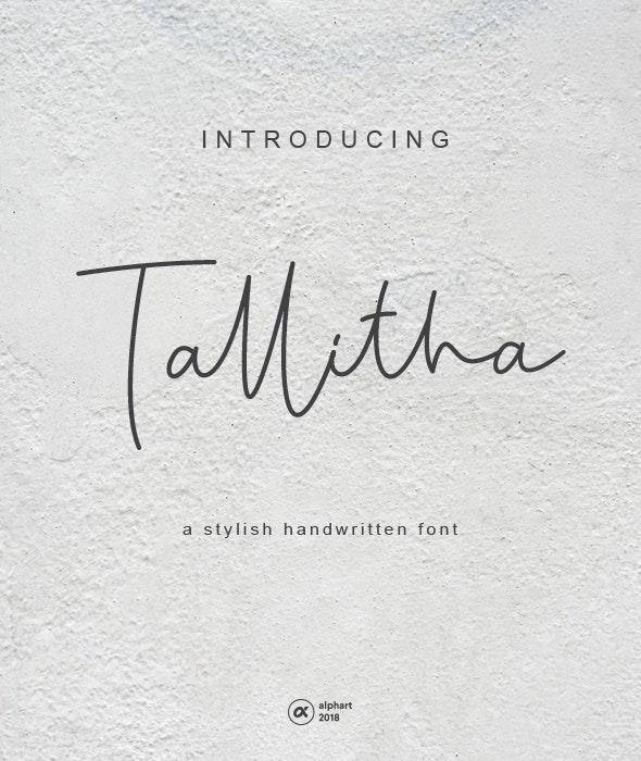 Tallitha a stylish handwritten font - Hand-writing Script