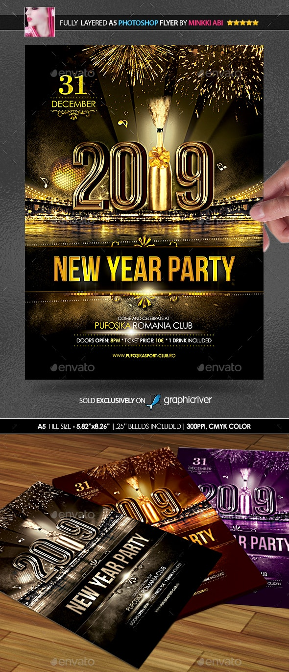 New Year Party Poster/Flyer by Minkki | GraphicRiver