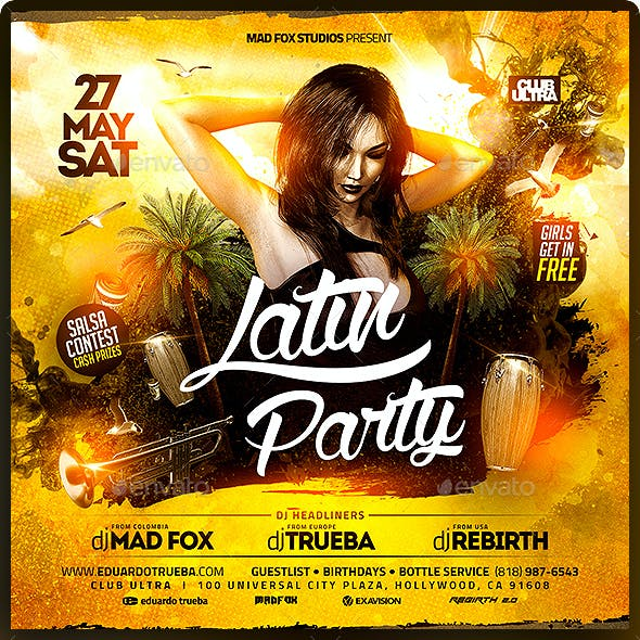 Latin Party Flyer